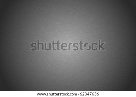 Brushed silver metallic plate useful for backgrounds - stock photo