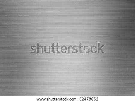 brushed silver shiny metal - stock photo