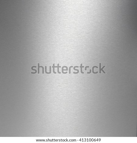 Brushed stainless steel plate textured background. - stock photo
