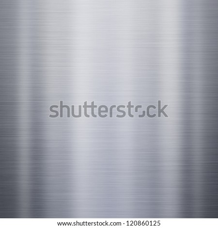 Brushed steel metal background or texture - stock photo