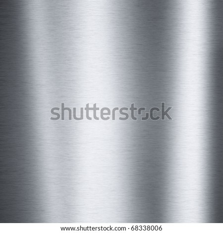Brushed steel plate texture with reflections useful for backgrounds - stock photo