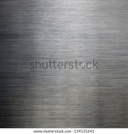 brushed texture metal background - stock photo