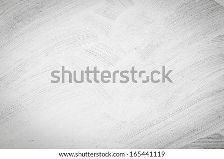 Brushed white wall texture - dirty background - stock photo