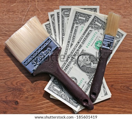brushes and dollars