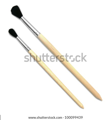 Brushes for drawing. On a white background. - stock photo