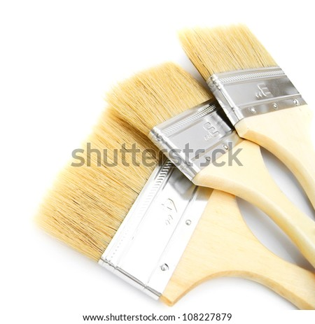 Brushes. On a white background.