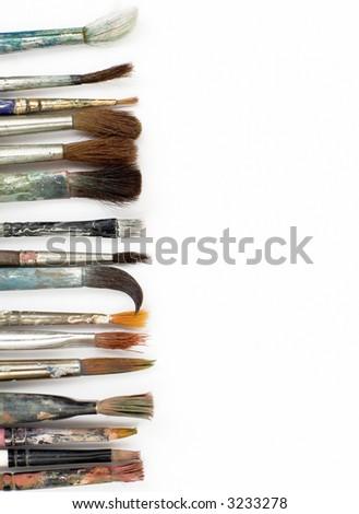 brushes on white background - stock photo