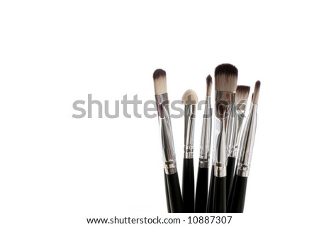 brushes over white