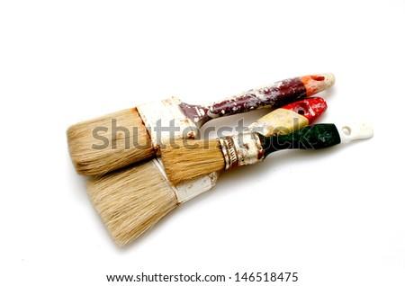 Brushes used - stock photo