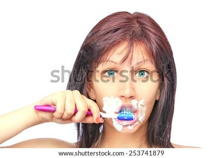 Brushing Theet - stock photo