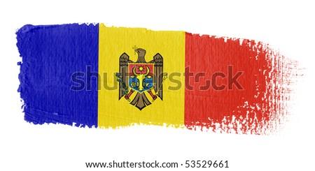 Brushstroke Flag - stock photo