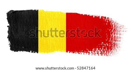 Brushstroke Flag Belgium - stock photo