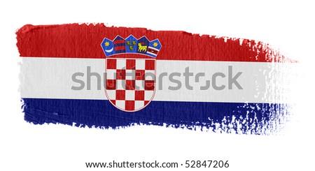 Brushstroke Flag Croatia - stock photo