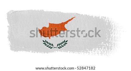 Brushstroke Flag Cyprus - stock photo