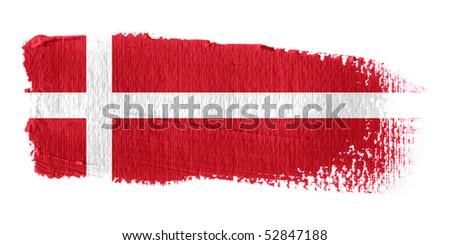 Brushstroke Flag Denmark - stock photo