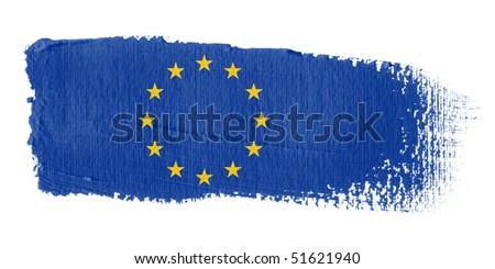 Brushstroke Flag Europe - stock photo
