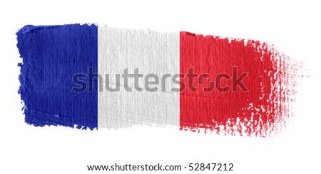 Brushstroke Flag France - stock photo
