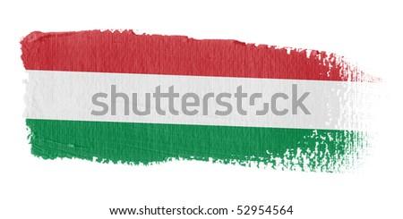 Brushstroke Flag Hungary - stock photo