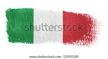 Brushstroke Flag Italy