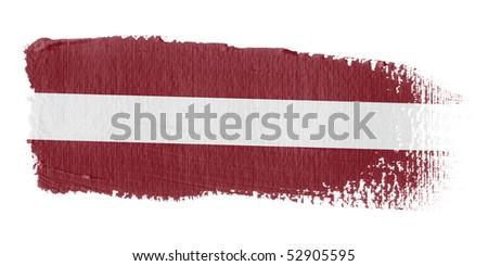 Brushstroke Flag Latvia - stock photo