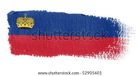 Brushstroke Flag Liechtenstein - stock photo