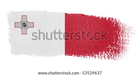 Brushstroke Flag Malta - stock photo