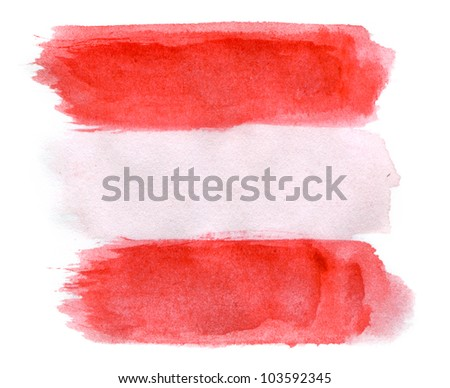 Brushstroke Flag of Austria - stock photo
