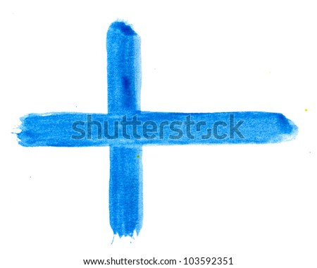 Brushstroke Flag of Finland - stock photo