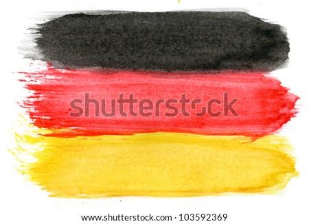 Brushstroke Flag of Germany - stock photo