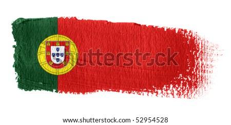 Brushstroke Flag Portugal - stock photo