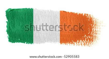 Brushstroke Flag Republic of Ireland - stock photo
