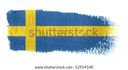 Brushstroke Flag Sweden - stock photo