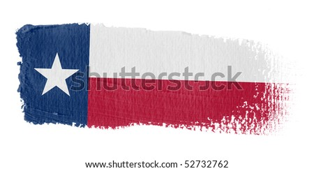 Brushstroke Flag Texas - stock photo