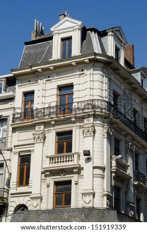 Brussel Historic Building Details - stock photo