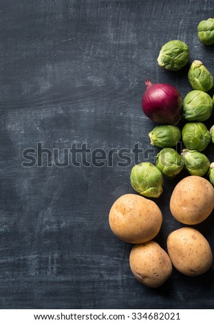 Brussel sprout cooking background - stock photo