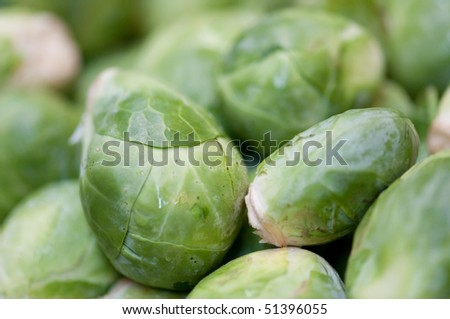Brussel Sprouts closeup at the Eastern Market in Washington DC