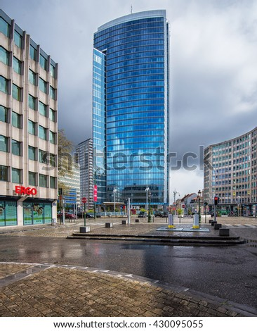 BRUSSELS, BELGIUM - 24 APRIL, 2016: Building of the European Commission DG Comp in Brussels, Belgium on 24 April 2016.