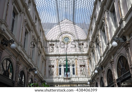 BRUSSELS, BELGIUM-AUGUST 02,2012:SHOPPING CENTRE BRUSSELS - stock photo