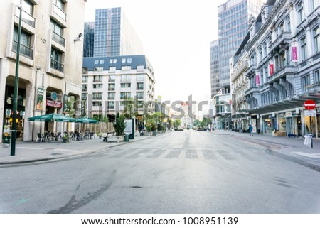 BRUSSELS, BELGIUM - August 27, 2017: Street view of Buildings around city, one of the most popular tourist destinations in brussel, Belgium.