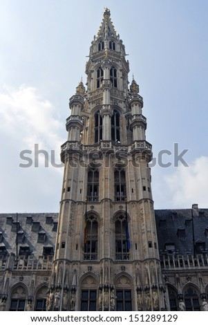 Brussels - Detail of historic city centre of Brussels, Belgium. - stock photo
