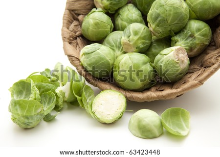 Brussels sprouts cut