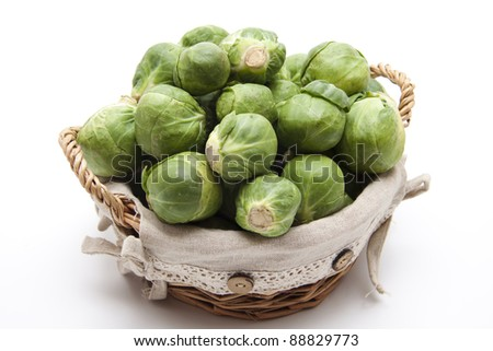 Brussels sprouts in the twisted basket