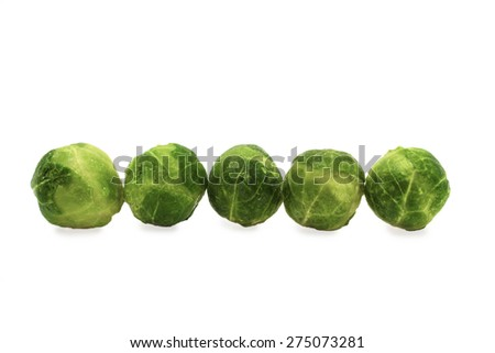 Brussels Sprouts isolated on the white background - stock photo