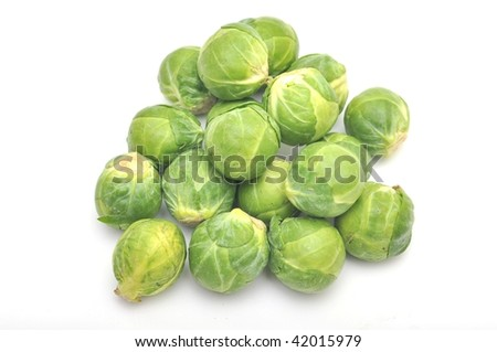 brussels sprouts over white