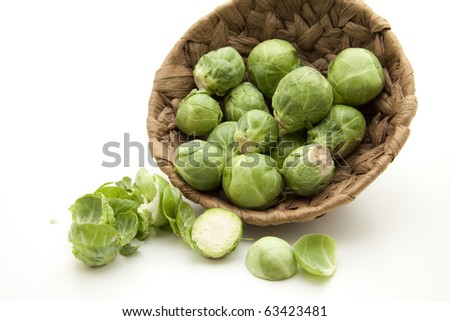 Brussels sprouts with loose leaves