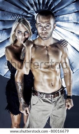 brutal beautiful people - stock photo