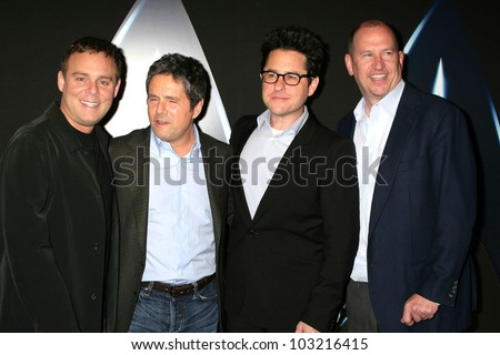 "Bryan Burk, Brett Grey, J.J. Abrams and Rob Moore at the ""Star Trek"" DVD And Blu-Ray Release Party, Griffith Observatory, Los Angeles, CA. 11-15-09"