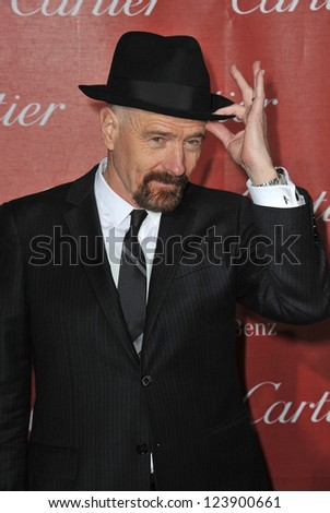 Bryan Cranston at the Awards Gala for the 2013 Palm Springs International Film Festival. January 5, 2013  Palm Springs, CA Picture: Paul Smith
