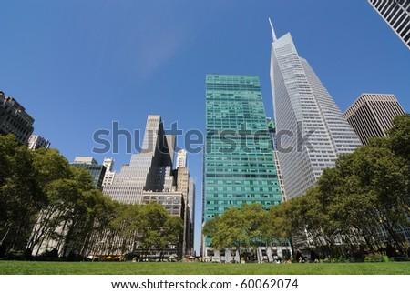Bryant Park in New York City. - stock photo