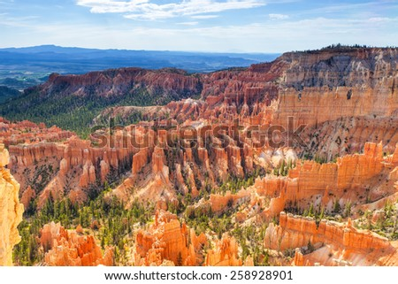 Bryce Canyon as Viewed From Sunrise Point at Bryce Canyon National Park,in  Utah, United States of America. Horizontal Image Composition - stock photo